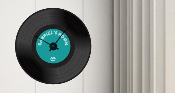 Custom Vinyl 45 Clock (with mechanism)