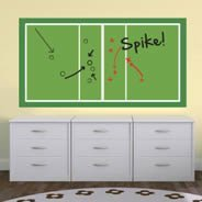 Volleyball Court Dry Erase decal