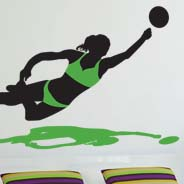 Volleyball Dive wall sticker
