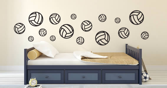 Volleyball wall decals