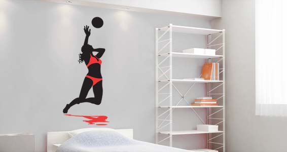 Volleyball Spike wall decal