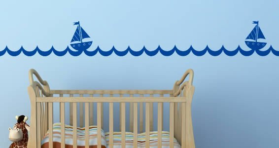 Sails and Waves wall decals
