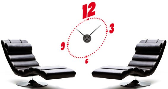 Chrono wall decal clock