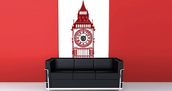 Little Big Ben clock stickers (with mechanism)