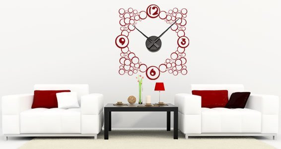 Bubble Wall decal clock