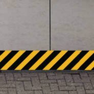 Bi-color Warning Strips wall decals