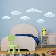 Watercolor Clouds wall decal