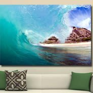 Wave artist canvas on wood frame