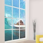 Hawaii Waves see through window decals
