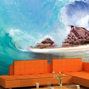 Wave quality wall mural