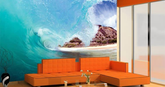 Wave quality wall muralDezign With a Z