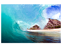 Hawaiian Waves wall decals skins