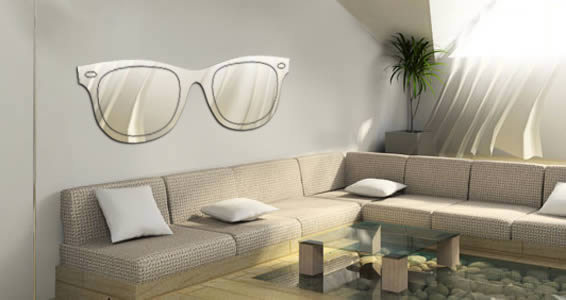 Acrylic Wall Mirror wayfarer sunglass wall mirror | dezign with a z