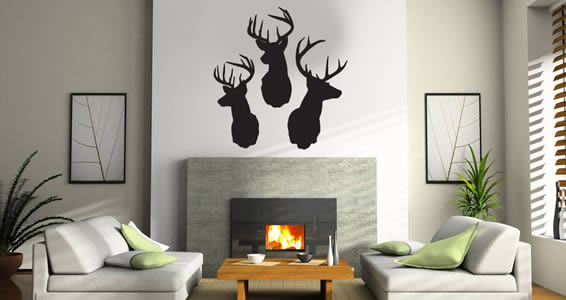 Reindeer wall decals
