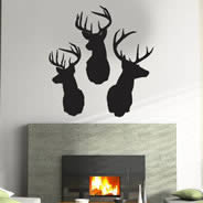 Reindeer wall decals