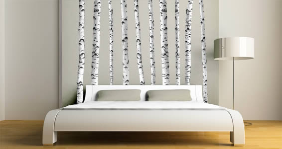 Superieur White Birch Trees Wall Decal