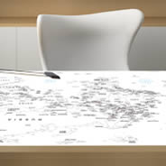 World Map Planisphere Dry Erase Furniture Decal Skin