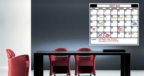Whiteboard Calendar Decals Sunday to Monday