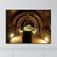 Wine Cellar photo on canvas