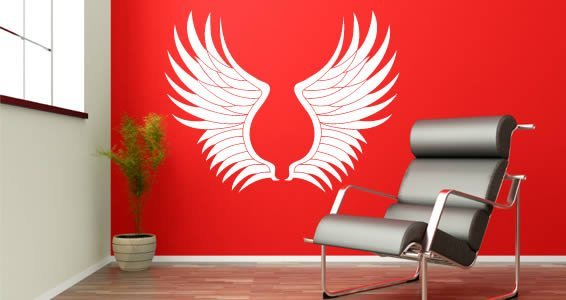 Wings wall decals