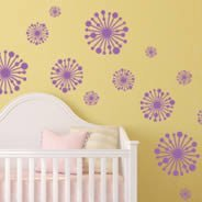 Winkle Flowers wall decals
