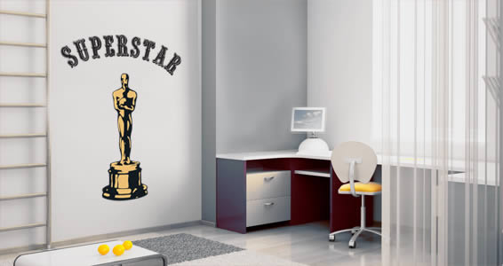 Winner Trophy personalized wall decals