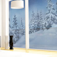 Snow Forest see through window decals
