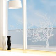 Winter Tree frosted window decals