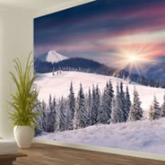 Snow Winter Trees wall murals