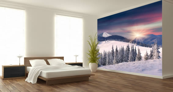 Snow Winter Trees wall murals Dezign With a Z