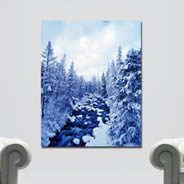 Winter River wall canvas