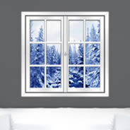 Wintry River - Faux Windows