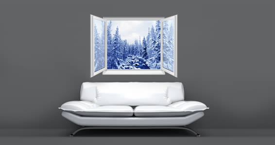 Forest River Faux Window