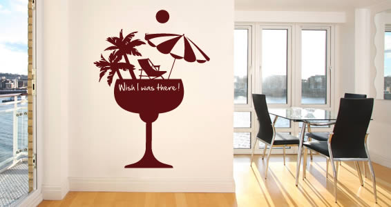 Wish I was there wall decal