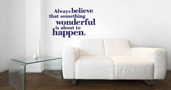 Wonderful to Happen wall decal quotes
