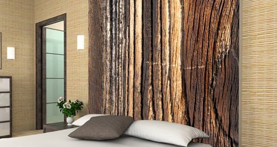 Wood Wall Paper Dezign With A Z - Wall decals wood