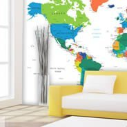 World Country Names wall murals