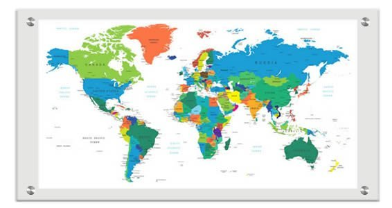 World Countries Maps Dry Erase Plexigl Stand Off on travel map, rainbow map, magnetic map, butterfly map, disney map, peel stick wall map, stars map, halloween map, dry line map, metal map,