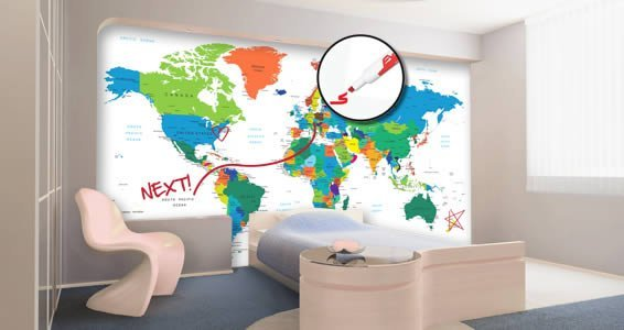 Dry Erase World Map Wall Decals Country Names Dezign With a Z