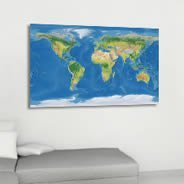 World Map decorative canvas