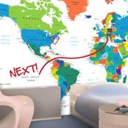 Dry erase world map wall decals country names dezign with a z gumiabroncs Image collections