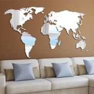 World Map wall mirrors