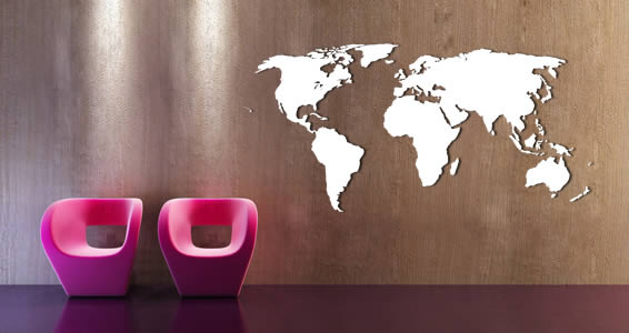 World Maps wall appliques