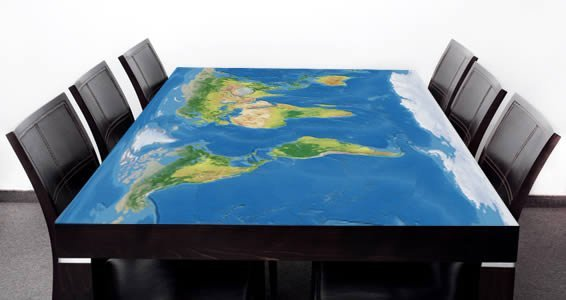 World Map Dry Erase Furniture Skin Wall Decals