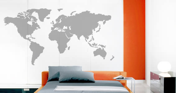 World Map Wall Stickers Dezign With A Z