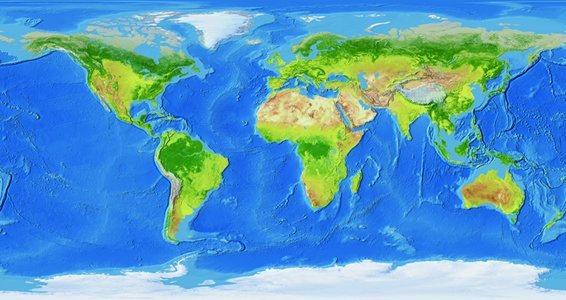 Dry Erase Decal World Map