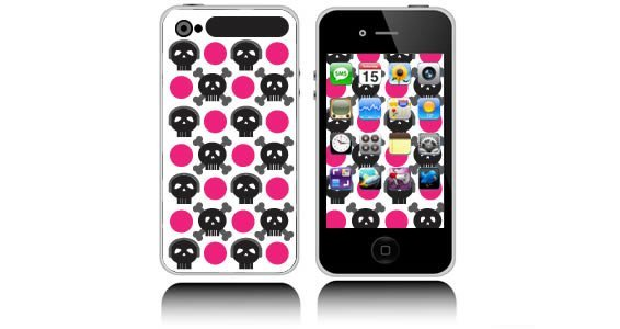 Skull XOXO  iPhone decals skins