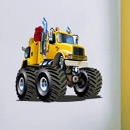 Yellow Monster Tractor decals