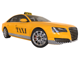 Yellow Taxi Cab decals