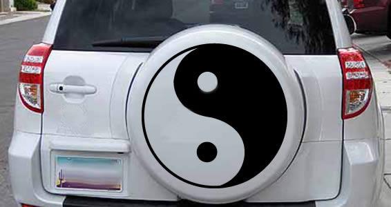 Ying Yang car decals